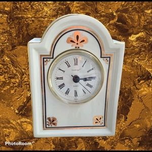 Vintage Godinger Porcelain Mantle Clock